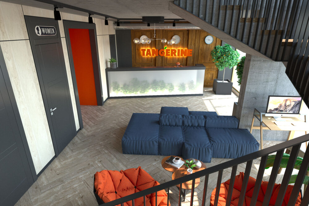 Лобби и кафе 1й этаж